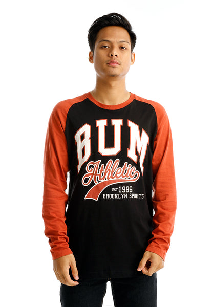 B.U.M Equipment Men Round Neck Tee-L/S (MD. BLACK)