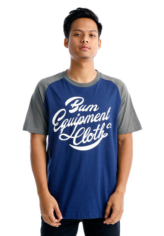 B.U.M Equipment Men Round Neck Tee (DK. BLUE)