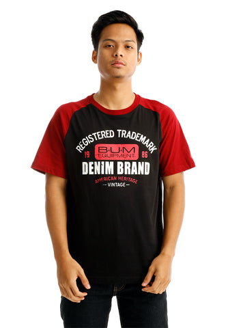 B.U.M Equipment Men Round Neck Tee (DK. BLACK)