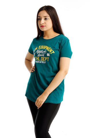 B.U.M Equipment Ladies Round Neck Tee S/S (MD GREEN)