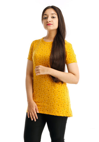 B.U.M Equipment Ladies Round Neck Tee S/S (DK YELLOW)