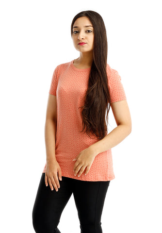 B.U.M Equipment Ladies Round Neck Tee S/S (MD PEACH)