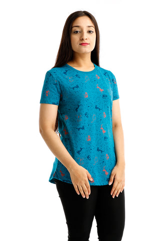 B.U.M Equipment Ladies Round Neck Tee S/S (MD TURQUOISE)