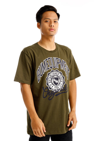 B.U.M Equipment Men Round Neck Tee (DK. GREEN)