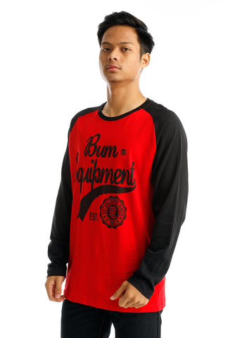 B.U.M Equipment Men Round Neck Tee-L/S (MD. RED)