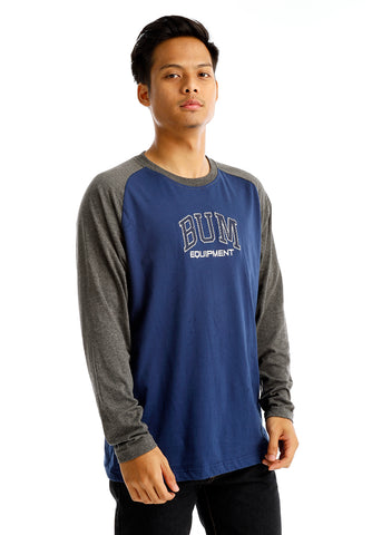 B.U.M Equipment Men Round Neck Tee-L/S (DK. BLUE)