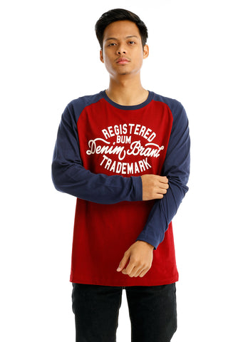 B.U.M Equipment Men Round Neck Tee-L/S (MD. MAROON)
