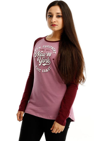 B.U.M Equipment Ladies Round Neck-Raglan L/S (LT PURPLE)