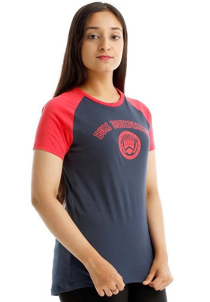 B.U.M Equipment Ladies Round Neck-Raglan S/S (MD NAVY)