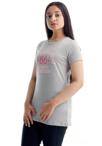 B.U.M Equipment Ladies Round Neck-Raglan S/S (LT GREY)