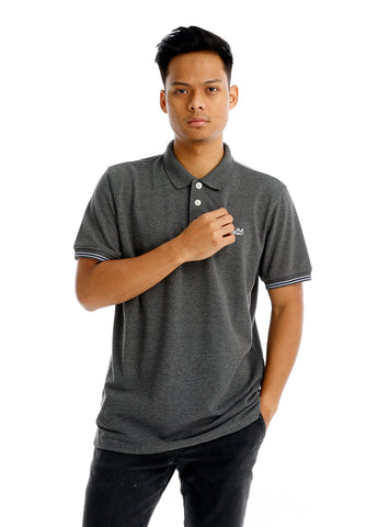 B.U.M Equipment Men Polo Tee-S/S (DK. GREY)