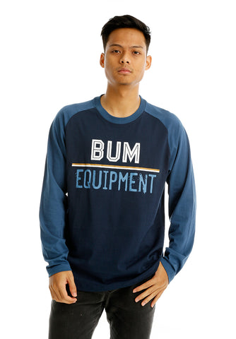 B.U.M Equipment Men Round Neck Tee L/S (NAVY)