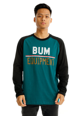 B.U.M Equipment Men Round Neck Tee L/S (MD. GREEN)