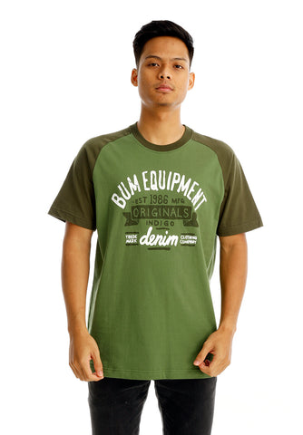 B.U.M Equipment Men Round Neck Tee (LT. GREEN)