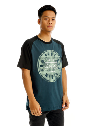 B.U.M Equipment Men Round Neck Tee (MD. Turquoise)