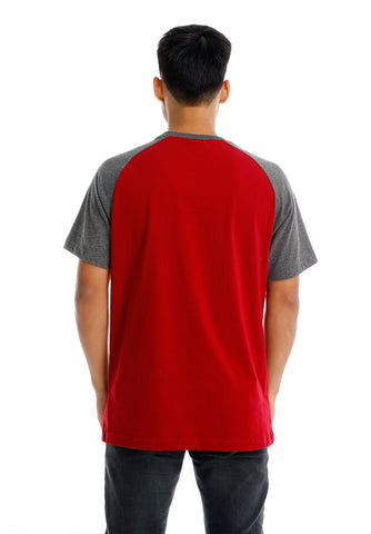 B.U.M Equipment Men Round Neck Tee (MD. MAROON)