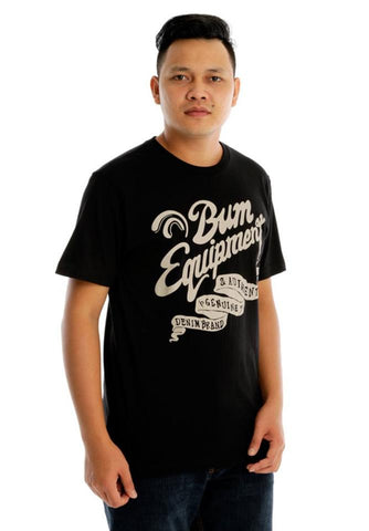 B.U.M Equipment Men Round Neck Tee (MD. BLACK)