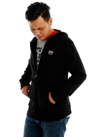 B.U.M EQUIPMENT MEN HOODIE JACKET (MD. BLK)