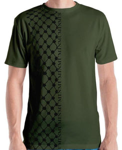 Men's Olive Keffiyeh Shirt