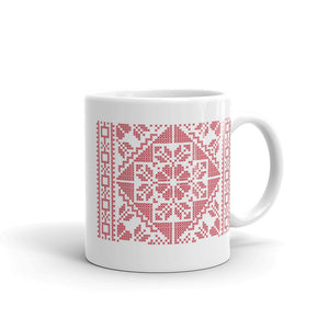 Tatreez Elaborate Flower Pattern Mug