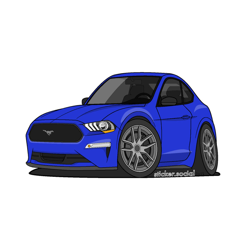 Sticker - Blue 2020 Mustang with Hard Top