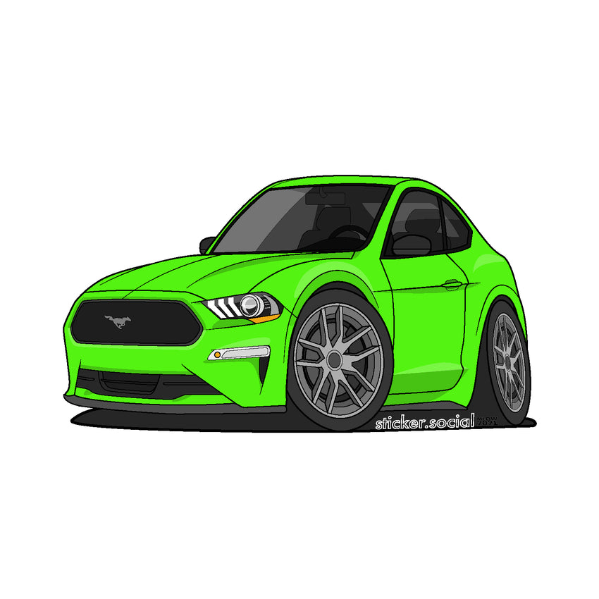 Sticker - Green 2020 Mustang with Hard Top