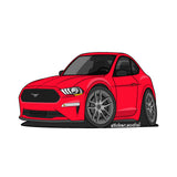 Sticker - Red 2020 Mustang with Hard Top