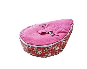 Babybooper Beanbag Soft Baby Cozy Baby Sitting Chair Nursery Pillow Safe (Booper Pink Top Multi Planet Circles) - Babybooper Beanbags