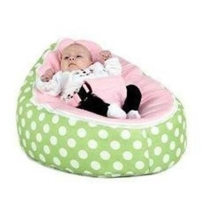 Babybooper Beanbag Soft Baby Cozy Baby Sitting Chair Nursery Pillow Safe (Watermelon Fizzy) - Babybooper Beanbags