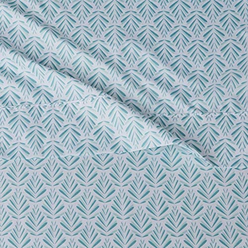 "Basics Lightweight Super Soft Easy Care Microfiber Bed Sheet Set with 16"" Deep Pockets - Twin, Aqua Fern: Home & Kitchen"