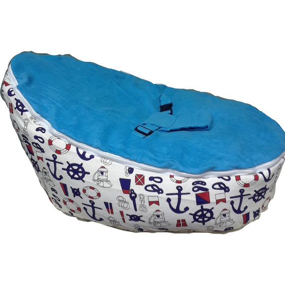 Babybooper Beanbags A Soft & Cozy Sitting and Napping Cozy Chair For Babies (Booper Sea Sailor)