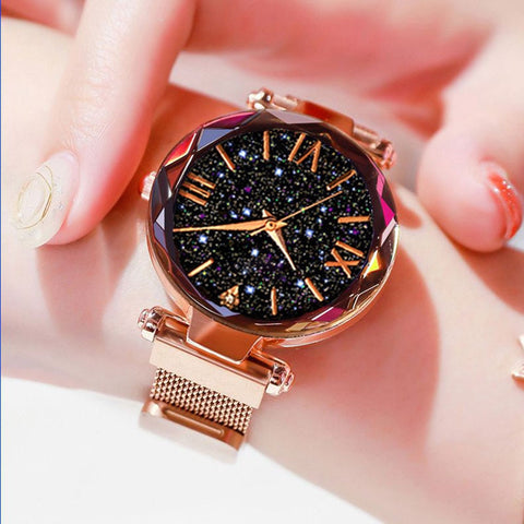 2020 Luxury Women Watches Magnetic Starry Sky Ladies Watch Quartz Wristwatch Dress Female Clock