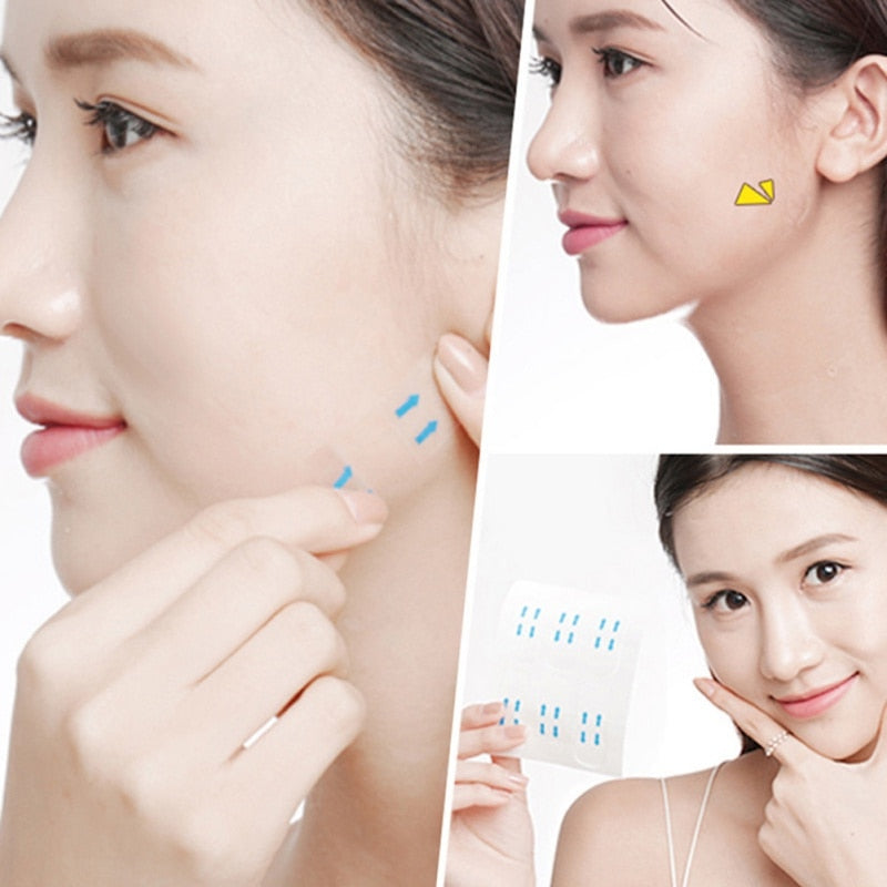 100 Pcs/Set Invisible Thin Face Stickers Face Facial Line Wrinkle Sagging Skin V-Shape Face Lift Up Fast Chin Adhesive Tape