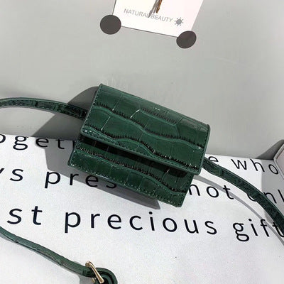 Image of Mini Small Square bag 2019 Fashion New Quality PU Leather Women's Handbag Crocodile pattern Chain Shoulder Messenger Bags