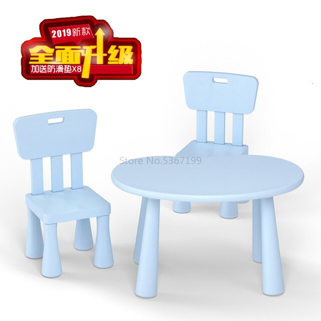 Children's table and chair kindergarten table and chair baby learning table plastic table chair chair game table toy table