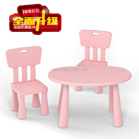 Image of Children's table and chair kindergarten table and chair baby learning table plastic table chair chair game table toy table