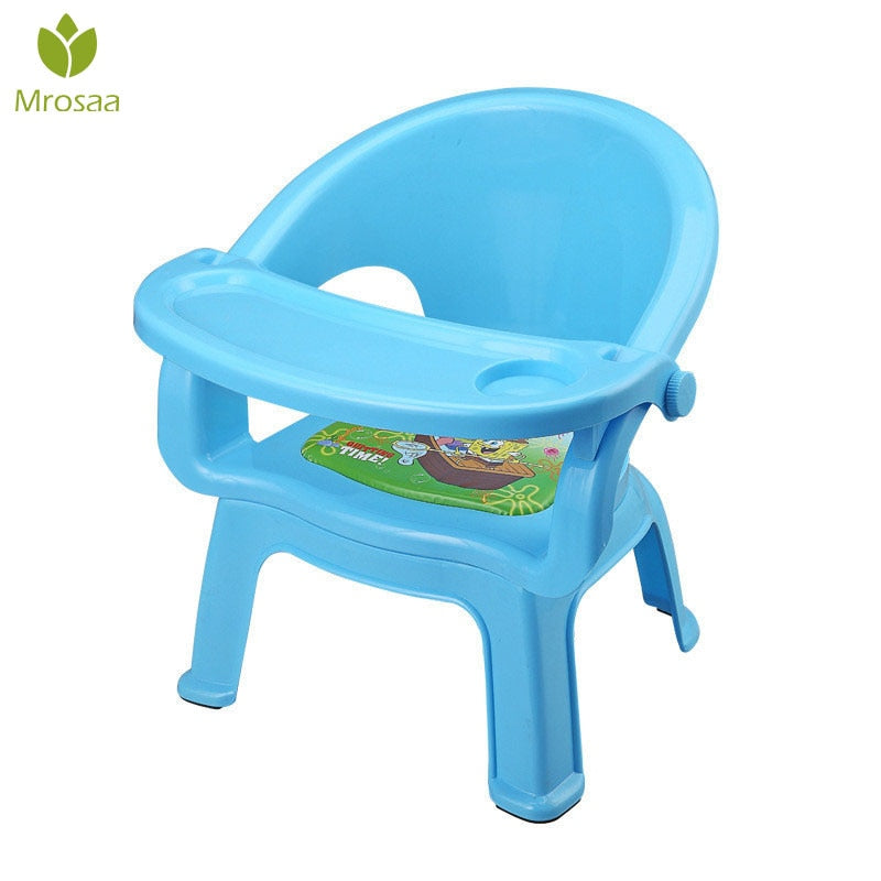 Hot Sale Children's Dining Chair With Plate Baby Eating Table Baby Chair Dining Table Back Call Called Chair Baby Plastic Stool