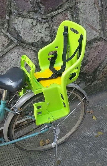 Bicycle Plastic Child Seat Rear Large Plastic Seat Belt Baby Mountain Bike Folding Car Rear Seat Foot Guard