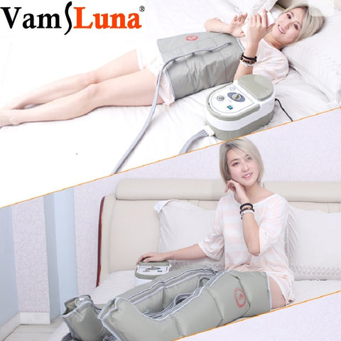 Image of Air Wave Pressure Pressotherapy Massage Compression Circulator Leg Arm Waist - Lymphatic Drainage Device For Muscles Relax