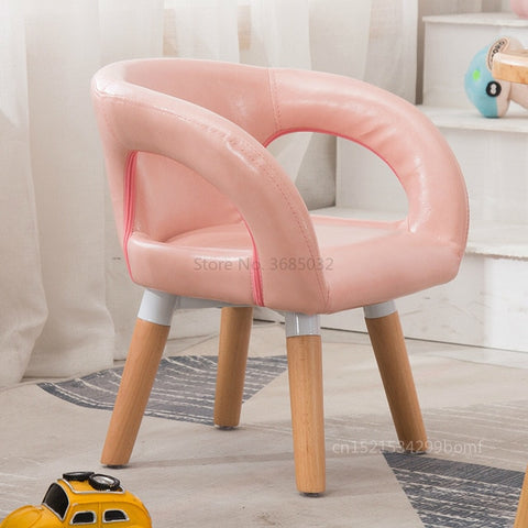 Image of Children Table and Chair Kindergarten Wooden Stool Cartoon Sofa Lovely Baby Dining Table Stool Kids Furniture Toddler Chairs