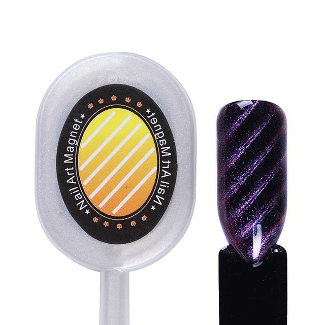 Nail Art Magnet Stick Cat Eye Magnet for UV Gel Varnish Polish 9D Cat Eye Line Strip Effect Strong Magnetic Pen Nail Art Tools