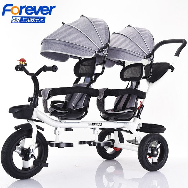Permanent Second Child Artifact Tricycle Child Double Bicycle Twin Baby Stroller Baby Stroller Children Bed