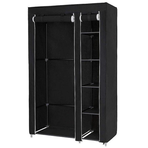 172*134*43 CM Non-woven Wardrobe Bedroom Cloth Wardrobe Folding Portable Light Clothing Storage Cabinet Dustproof Closet HWC