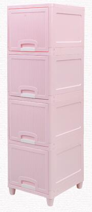 Image of Multilayer storage cabinets drawers Children's shelves simple plastic children's toys debris household drawer storage cabinet