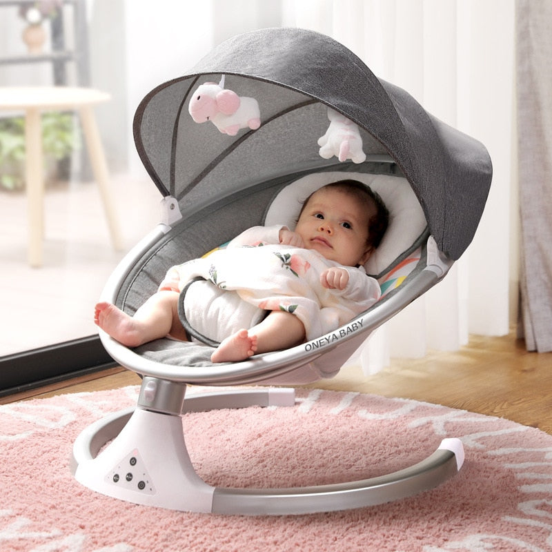 Baby Bed Infants BB Electric Rocking Chair Manufacturers Direct Selling New Smart Bluetooth Electric Cradle Bed toddler bed