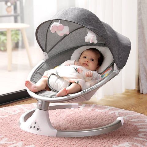 Image of Baby Bed Infants BB Electric Rocking Chair Manufacturers Direct Selling New Smart Bluetooth Electric Cradle Bed toddler bed