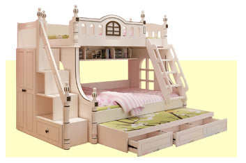 Image of American design white children's bed 1.2 m bed bunk bed girl children's furniture bed