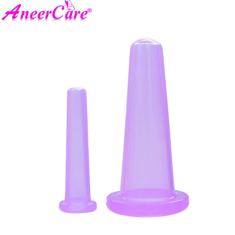 Image of 2 pcs jar facial massage cans for massage ventosa celulitis suction cup suction cups face massage cans anti cellulite