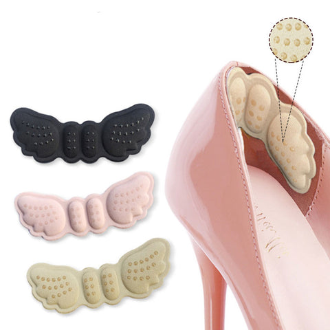 Image of 2pcs Butterfly Heel Insoles Heel Shoes Stickers For Heels Length Shoe Heel Pad Foot Care Anti Abrasion Keep Abreast Heel Pads