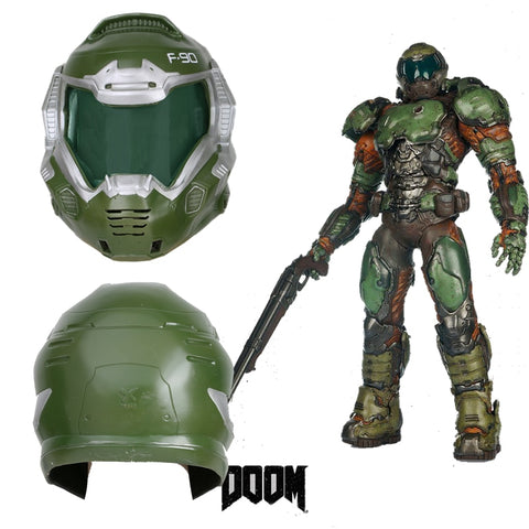 Coslive Doom Doomguy Resin Mask Full Head Helmet Cosplay Costume Props Game Replica Halloween